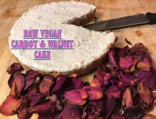 RAW VEGAN CARROT & WALNUT CAKE